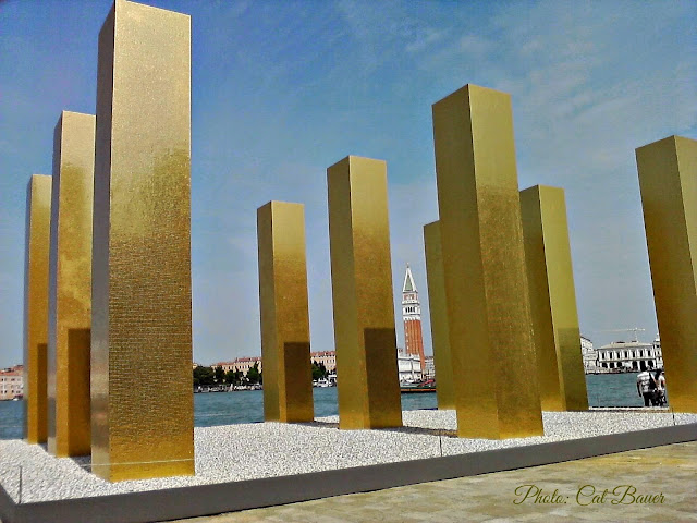 The Sky Over Nine Columns by Heinz Mack - Photo: Cat Bauer Venice Blog