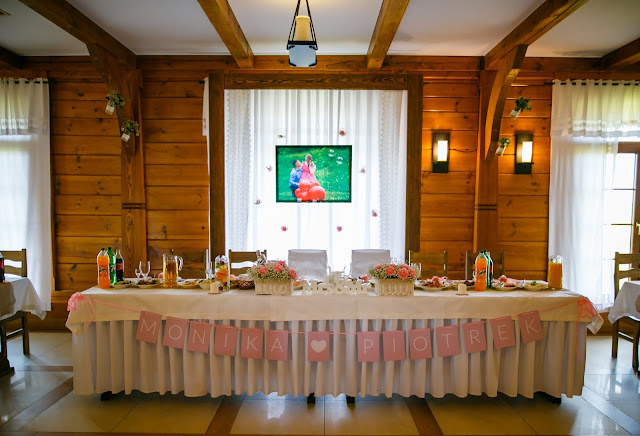 stół pary młodej, stół weselny, ślub, sala, diana biała podlaska