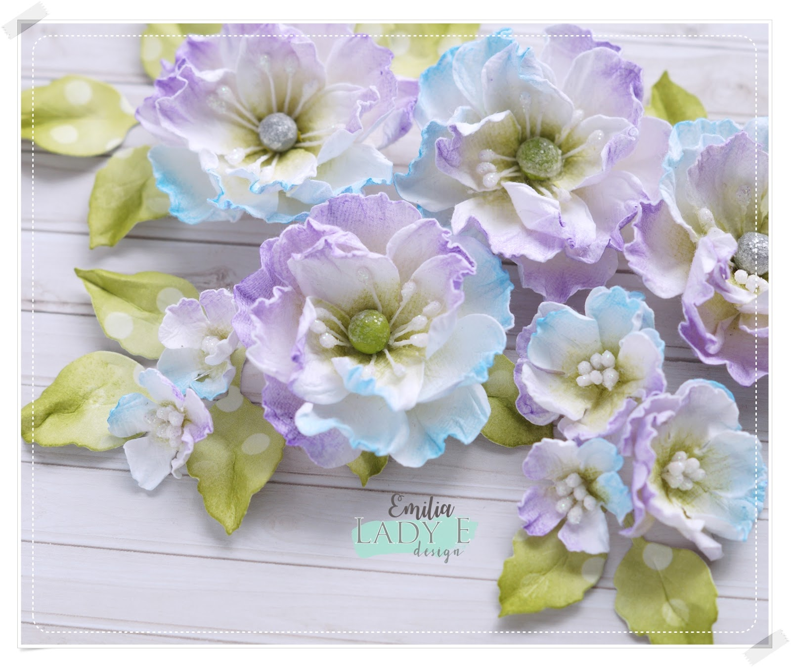 Mulberry Paper Flowers - Lady E Design