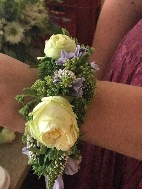 Flower bracelet, Wedding abroad, Mountain wedding lake-side at the Riessersee Hotel Resort Bavaria, Germany, Garmisch-Partenkirchen