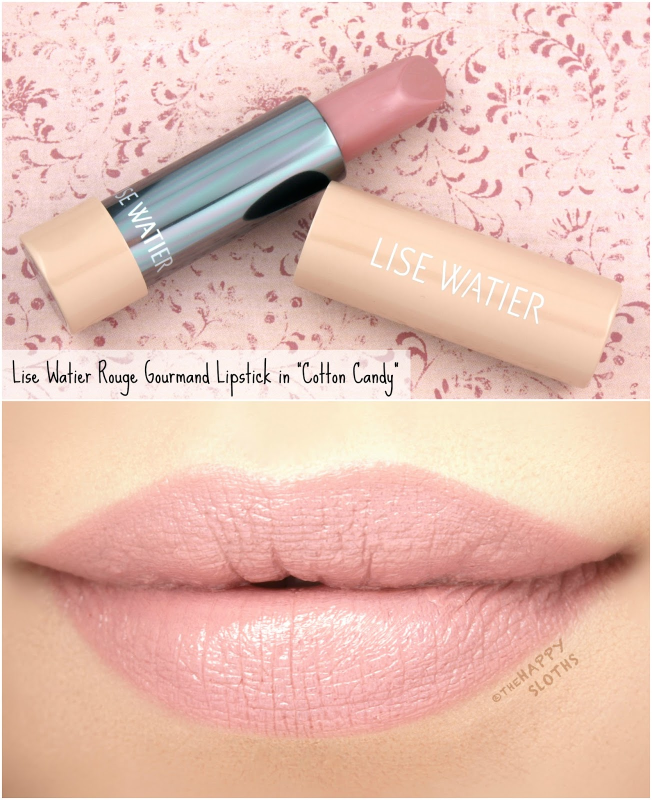 "Lise Watier | Rouge Gourmand The Nudes Lipstick in ""Cotton Candy"": Review and Swatches"