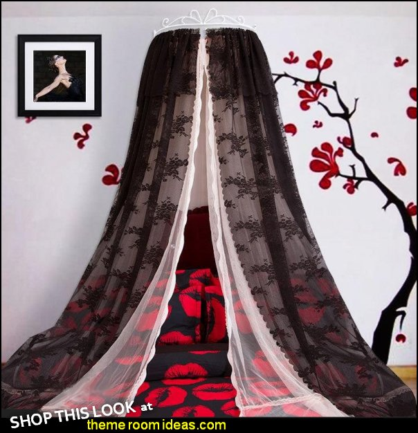 Princess Crown Design Double Lace Black Bed Canopy gothic bedroom decor  Gothic bedroom ideas - Gothic bedroom decor - Gothic bedding - Gothic wall decorations - Gothic furniture - Gothic Wall Murals - Gothic chic - Victorian Gothic boudoir themed decor - gothic living room - vampire bedroom decorating ideas - Graveyard bedroom ideas - Gothic style bedroom decorating ideas