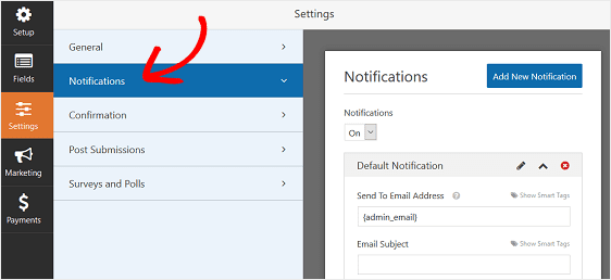 Customize donation form Notifications