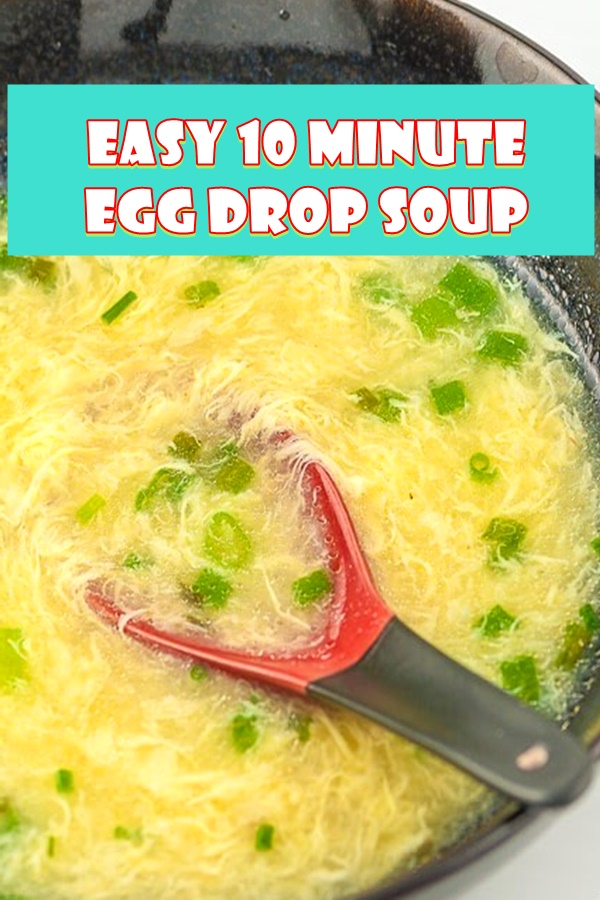 #EASY #10 #MINUTE #EGG #DROP #SOUP