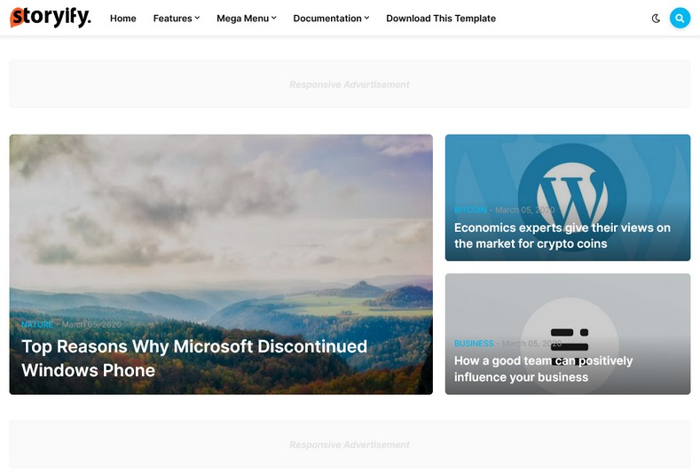 Storyify Blogger Template