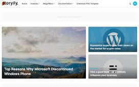 Template Blogger Storyify Untuk Jurnalis