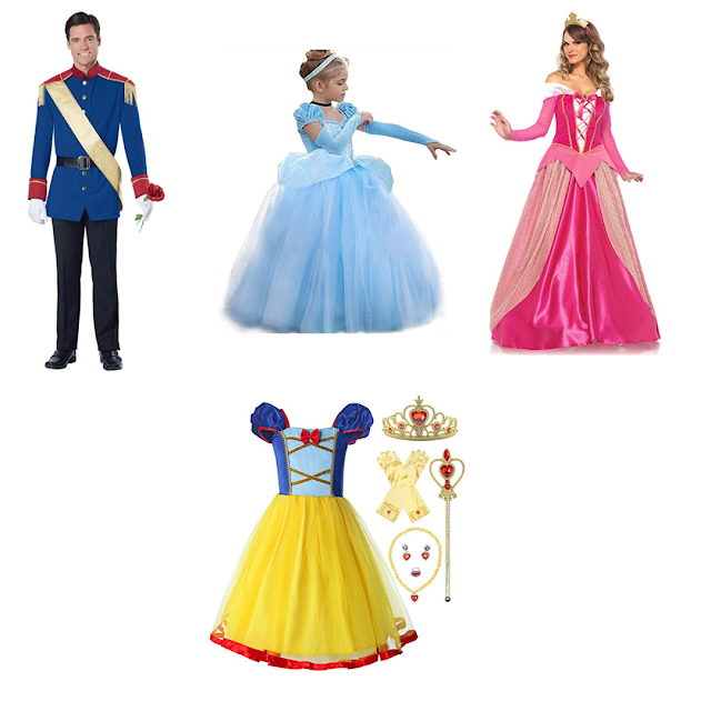 Princess and Price Charming Halloween Family costumes