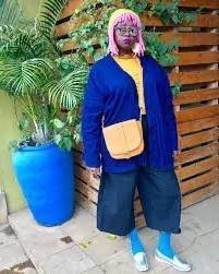 Muthoni Drummer Queen Purple Yarn Hair