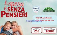 Logo Antica Erboristeria e Neutromed: vinci 359 buoni spesa da 25€ e un super premio da 1.000€