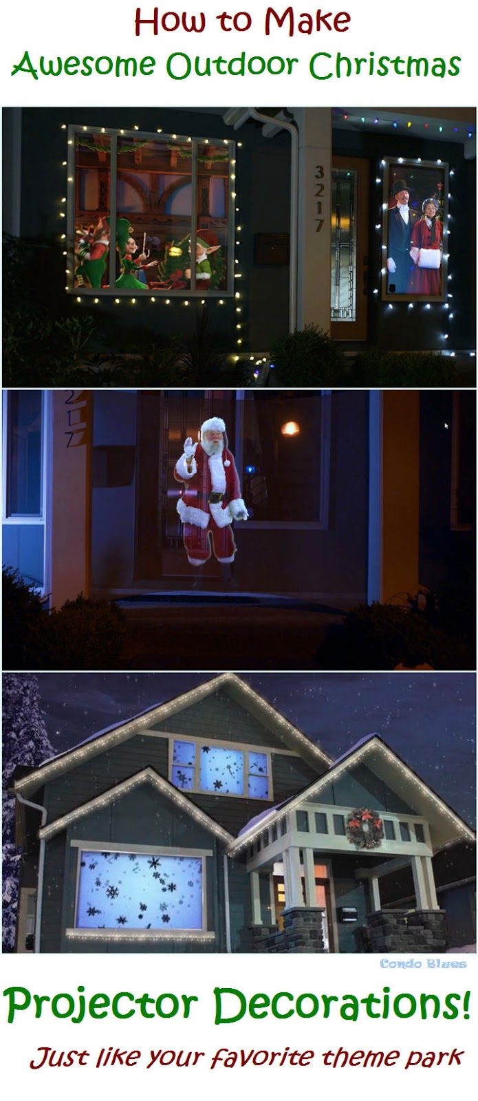 which is perfectly fine because this year im decorating my house with a life size live action santa claus and im repurposing my halloween decorations to - Christmas Outdoor Projector