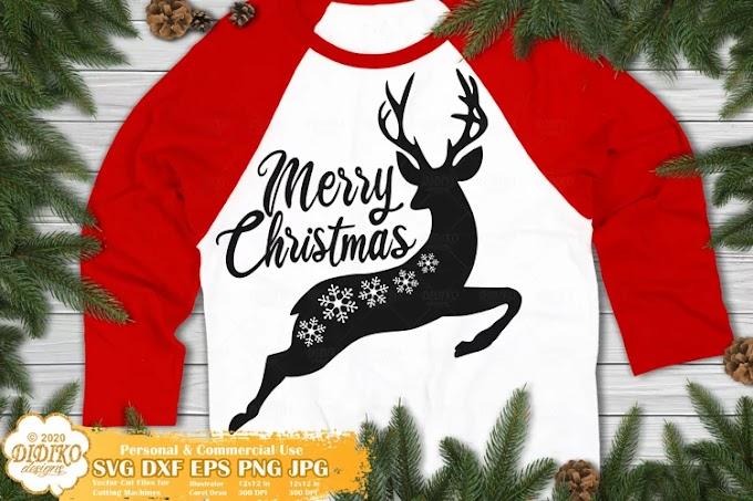 Reindeer SVG   Merry Christmas SVG   Snowflake SVG