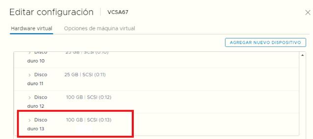 VMware: VCSA ampliar espacio disco