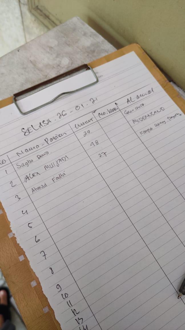 daftar pasien klinik THT astiti tangerang