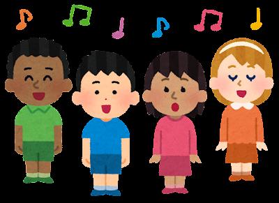 子供の合唱のイラスト(世界)