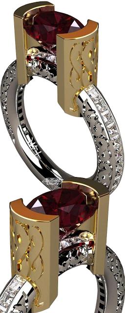 Greg Neeley Infinity Ruby Diamond Ring #brilliantluxury