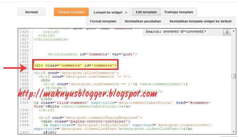 Cra membuat Scrol komentar di blogger