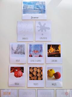 cartões alusivos ao Inverno