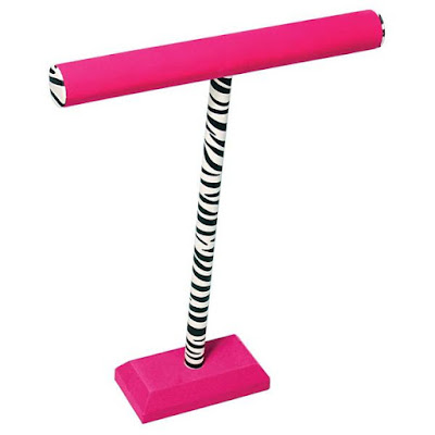 Pink Zebra Print Tall T-Bar Display from Nile Corp