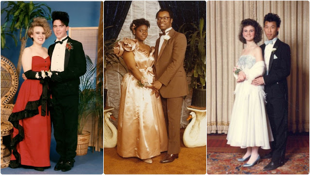36 Cool Photos of Teenage Couples in Prom Dresses From the 1980s