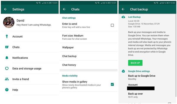 نسخة احتياطية WhatsApp