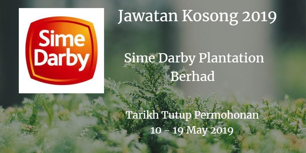 Jawatan Kosong Sime Darby Plantation Berhad 10 - 19 May 2019