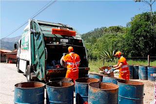 Coleta de lixo é feita em toda extensão das estradas Tere-Fri  e  Rio-Bahia