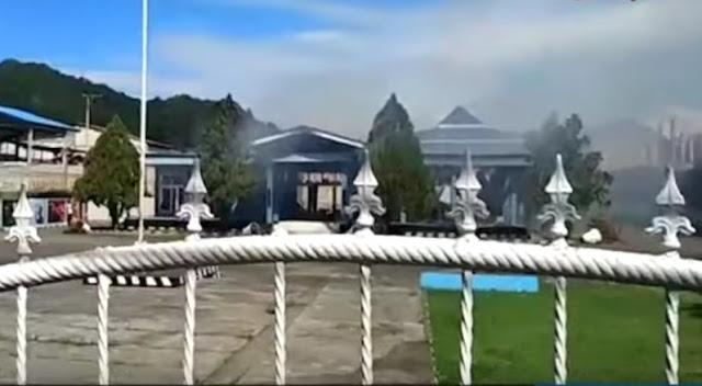 MRP Papua dibakar