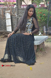 Tamil Actress Shreya Sri Stills in Black Akarkali Dress at Vanga Vanga Team Interview  0019.jpg