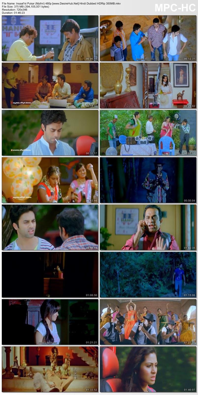 Insaaf ki Pukar (Mythri) 2012 Hindi Dubbed 480p HDRip 350MB Desirehub