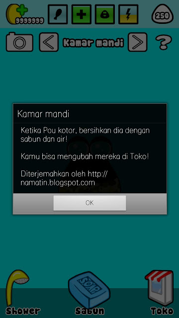 cara cheat pou bahasa indonesia