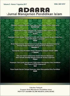 Adaara Jurnal Manajemen Pendidikan Islam