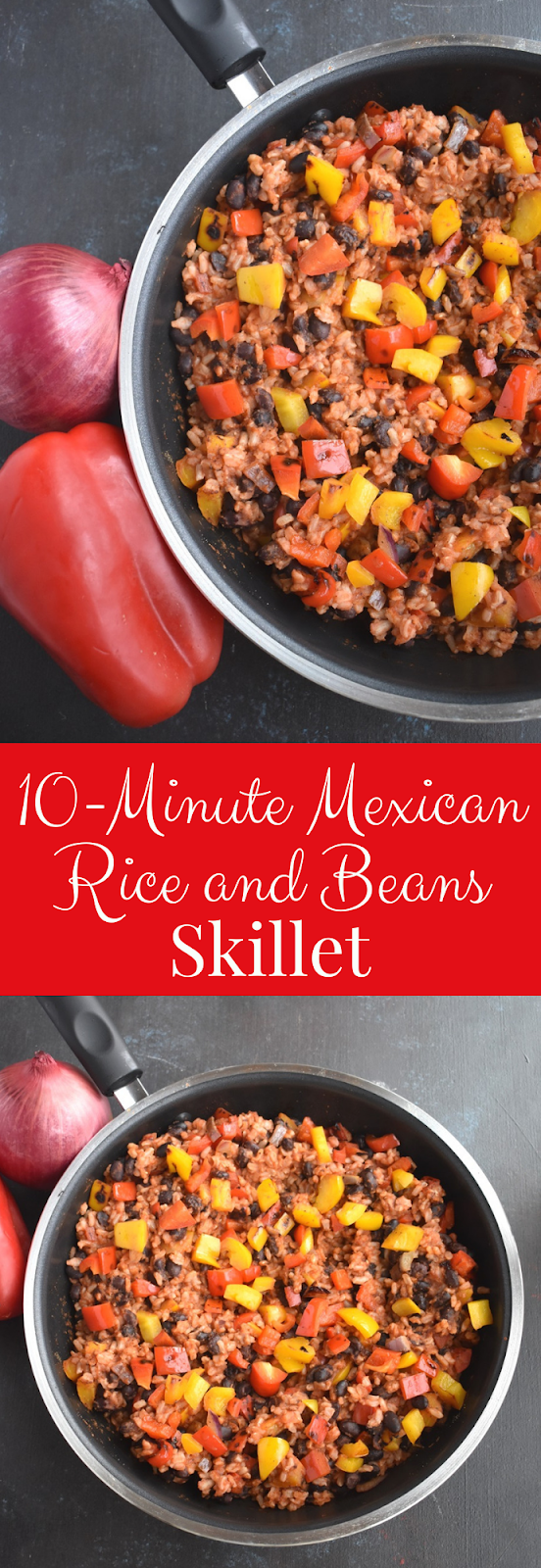 10-Minute Mexican Rice and Beans Skillet recipe