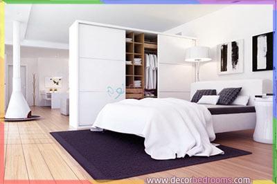 خزانة ملابس لفصل غرف النوم عن الحمام