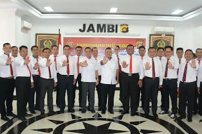 Ditreskrimsus Polda Jambi Laksanakan Kegiatan Penandatanganan Pakta Integritas Guna Mendukung Kebijakan Pemerintah