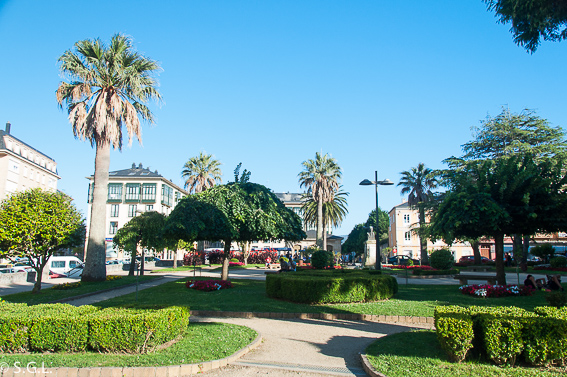 Plaza de España. Visitando Ribadeo