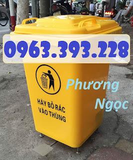 fda549582390d8ce8181 - Thùng rác nhựa 60L đạp chân, thùng rác đạp chân 4 bánh xe