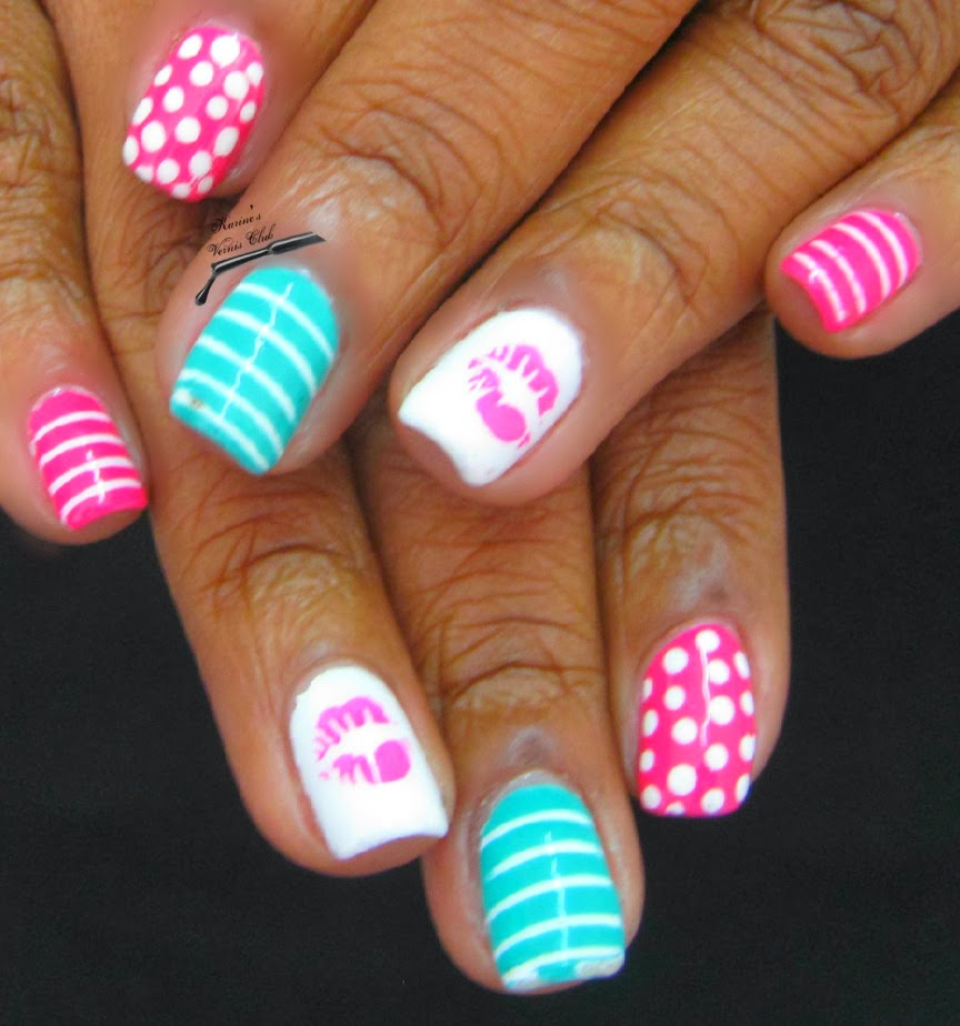Girly Nail Art: Karine's Vernis Club: Girly Girl Nail Art
