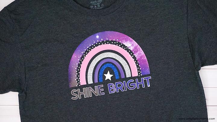 """Shine Bright"" Shirt with Free Cut File"