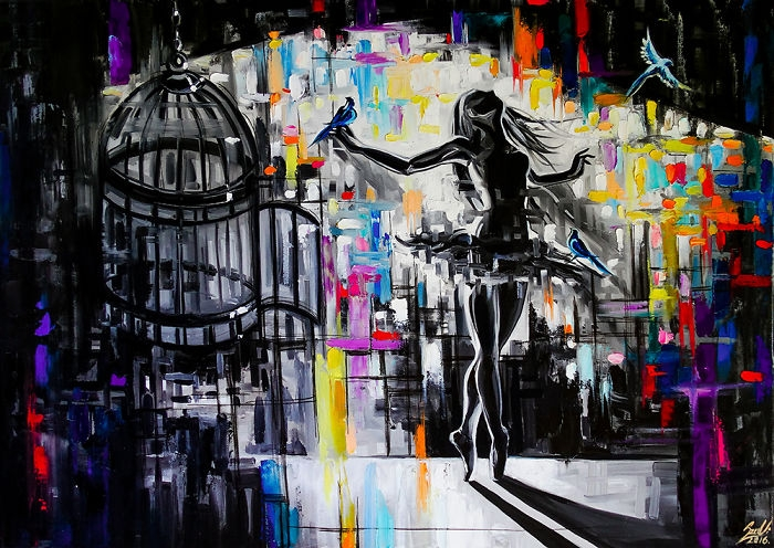 03-Cage-Vivien-Szaniszlo-Movement-Captured-with-the-Dancing-Ballerina-Paintings-www-designstack-co