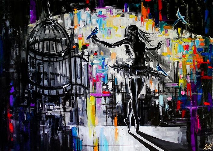 03-Cage-Vivien-Szaniszlo-Movement-Captured-with-the-Dancing-Ballerina-Paintings-www-designstack-co