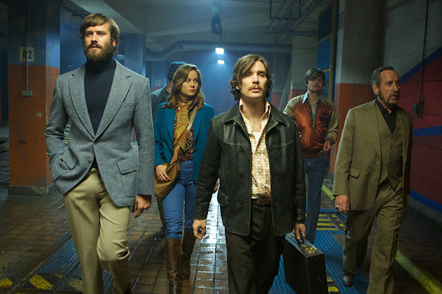 "Armie Hammer, Brie Larson, Cillian Murphy, Sam Riley, and Michael Smiley in ""Free Fire"""