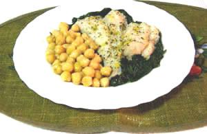 Receita bacalhau fresco com espinafre