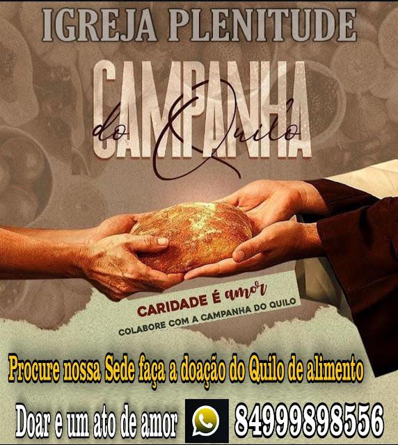 Igreja Plenitude em Caraúbas realiza campanha solidária de arrecadação de alimentos para famílias carentes