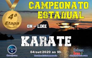 Campeonato Estadual de Karate On-Line - 4ª Etapa