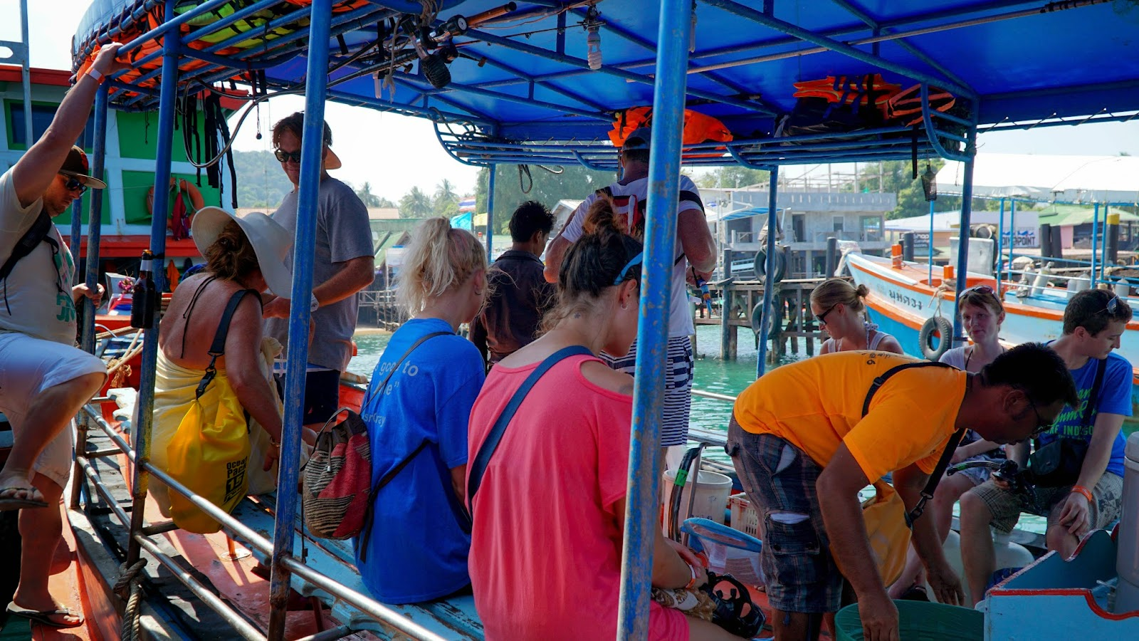 Getting ready to depart for our snorkeling trip around Koh Tao