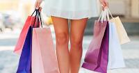 Vrouw met shopping bags