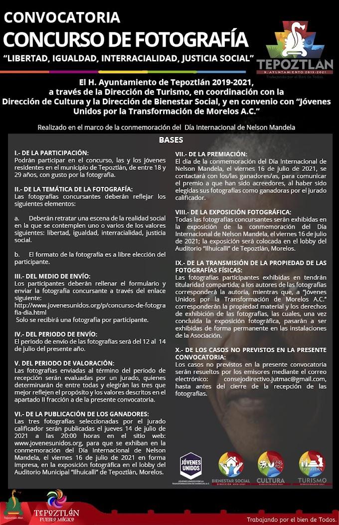 Realizarán en Tepoztlán conmemoración del Día Internacional de Nelson Mandela con exposición fotográgica