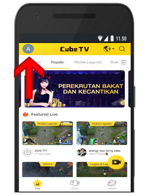 Profil Akun Anda di Cube TV