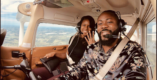 The first black man to engage his fiance on a single engine airplane_Samuel Enyi aka IREM$
