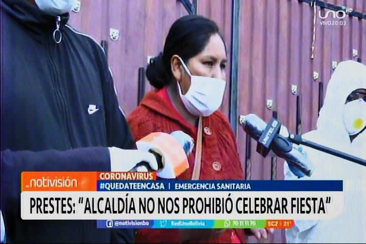 Prestes de Patacamaya: La Alcaldía no nos prohibió celebrar la fiesta